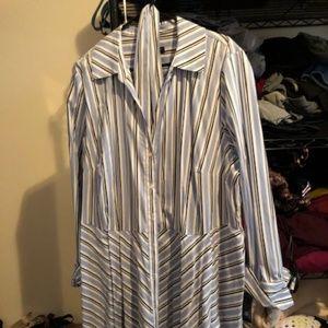 Plus size INC shirt dress